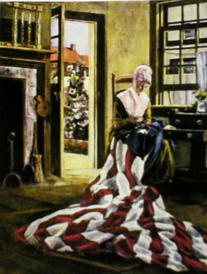 Betsy Ross Sewing the First Flag